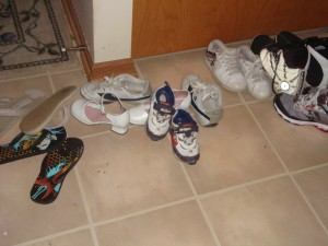 before shoe area