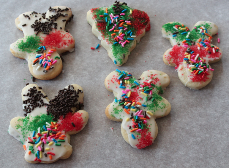 The kids decorated the cookies, and they were so good! Perfect sugar cookies!
