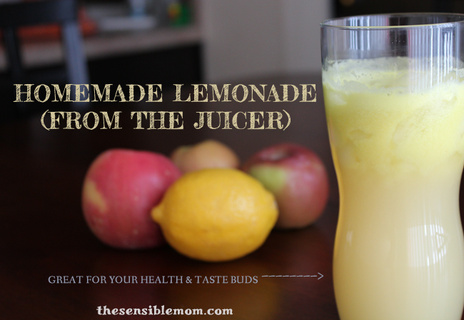 Homemade Lemonade with a juicer