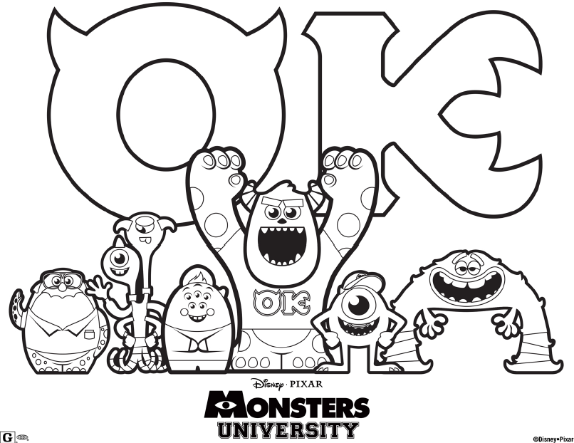 monster university coloring pages-#2