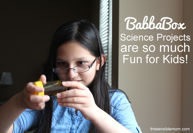 Babbabox Science Projects are so much fun for kids!