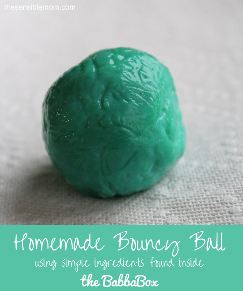 homemade bouncy ball