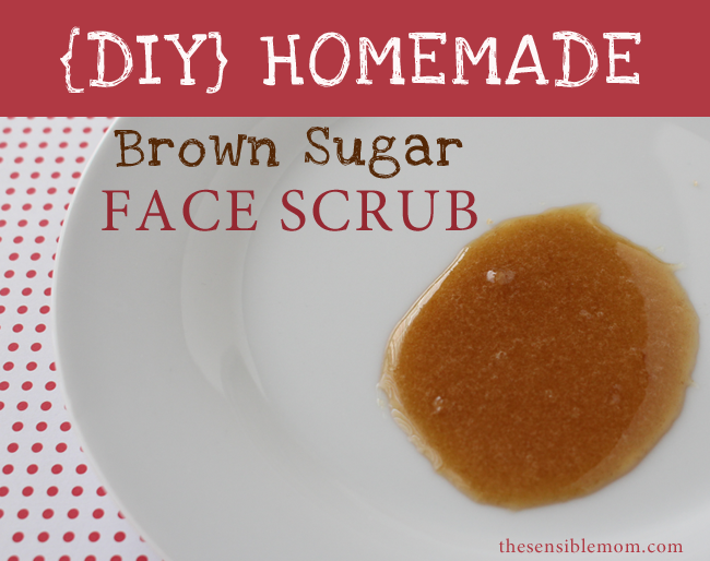 Homemade Sugar Scrub: Brown Sugar Face Scrub