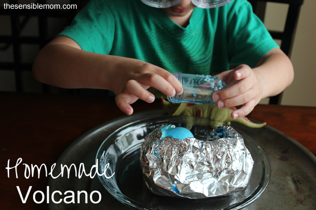 DIY Kid's Crafts: Homemade Volcano