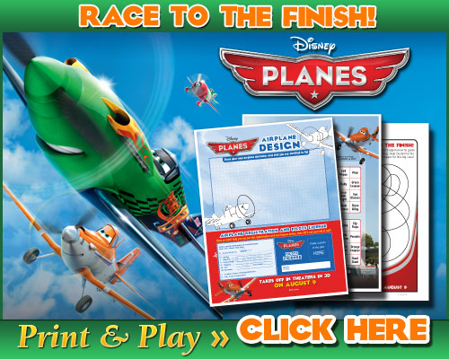 "PLANES ""Race to the Finish!"" Printable Activities for Kids #DisneyPLANES"