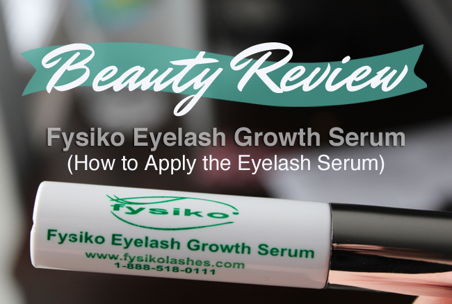 How to Apply the Fysiko Eyelash Growth Serum