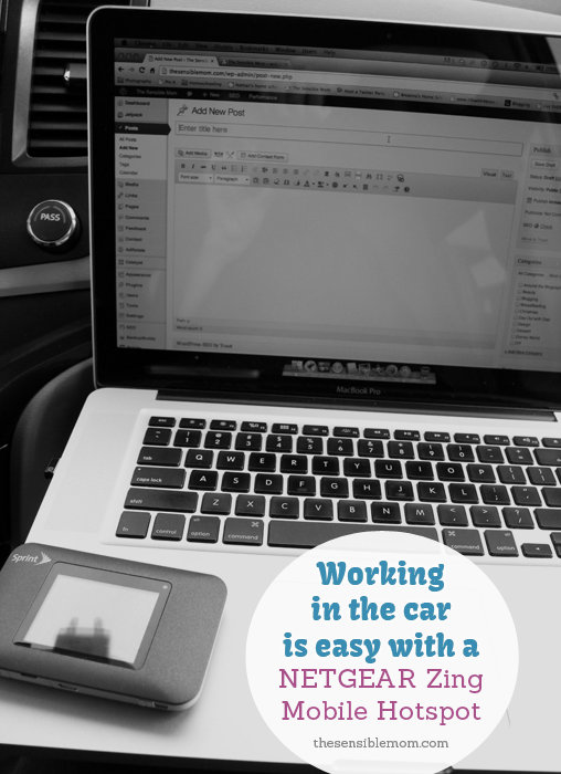 Sprint Mobile Hotspot - blogging in the car
