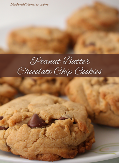 Peanut Butter Chocolate Chip Cookies Recipe #energytoburn