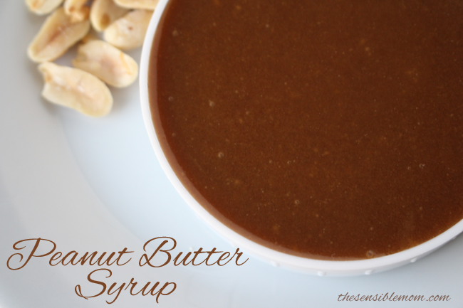 Peanut Butter Syrup Recipe - Great for ice cream sundaes & pancakes!