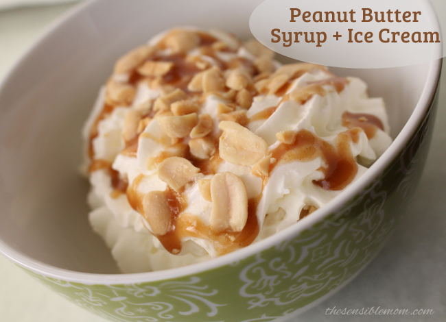 Peanut Butter Syrup Recipe - Delicious over Ice Cream & Pancakes!
