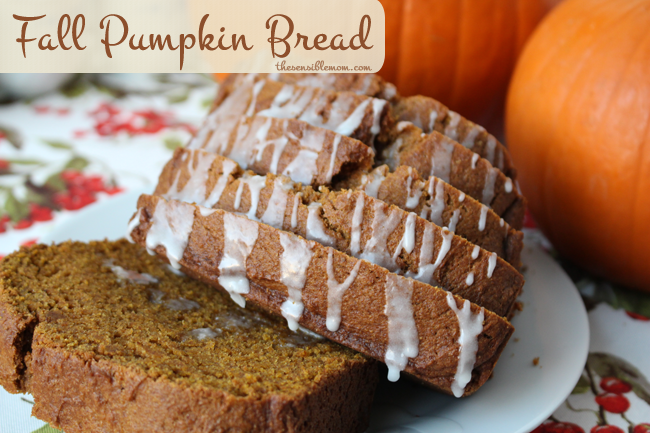 Awesome Recipe: Pumpkin Bread - delicious fall flavor!