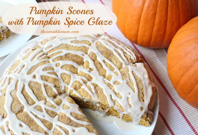 Recipe: Pumpkin Scones with Pumpkin Spice Glaze #shop