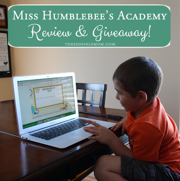 If your children are preschoolers or kindergarteners, you'll want to check out my Miss Humblebee's Academy Review and Giveaway! #homeschool #giveaway