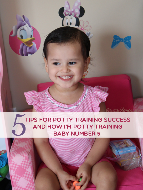 5 Tips for Potty Training Success (and How I'm Potty Training Baby Number 5) #SayAdiosToDiapers #Huggies #ad #PottyTraining