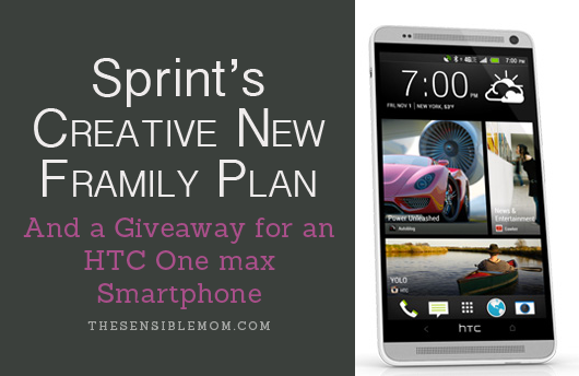 Sprint's Creative New Framily Plan and a Giveaway for an HTC One max Smartphone! Enter to win! (Ends 5/5/14) #SprintMom #MC