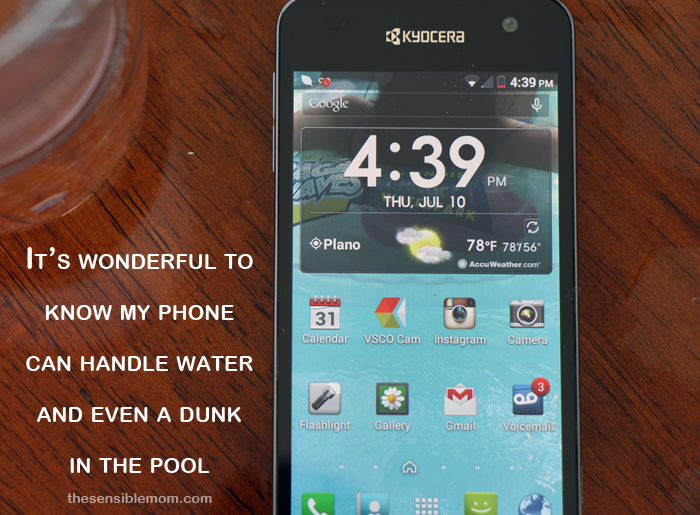 Remarkable Waterproof Smartphone: The Kyocera Hydro Vibe 4G LTE #SprintMom #MC