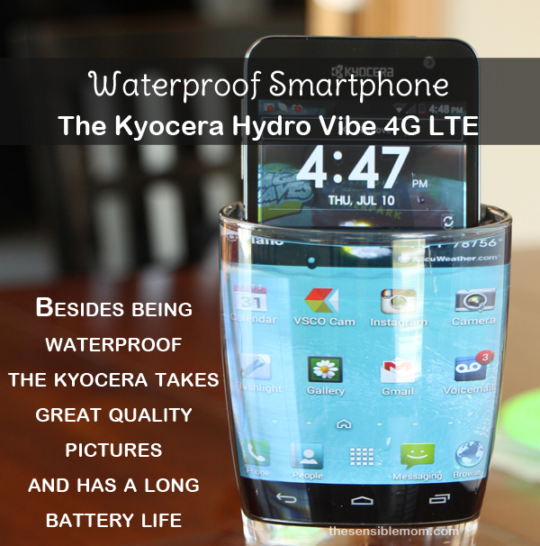 Remarkable Waterproof Smartphone: The Kyocera Hydro Vibe 4G LTE #SprintMom #MC