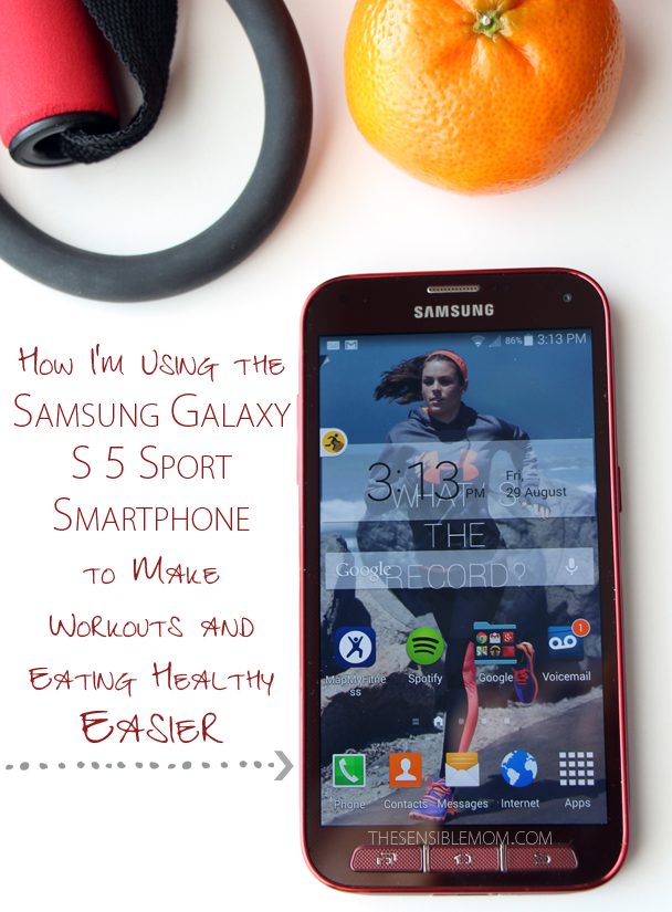 Learn how the Samsung Galaxy S 5 Smartphone can make workouts and eating healthy easier and more enjoyable! #Tech