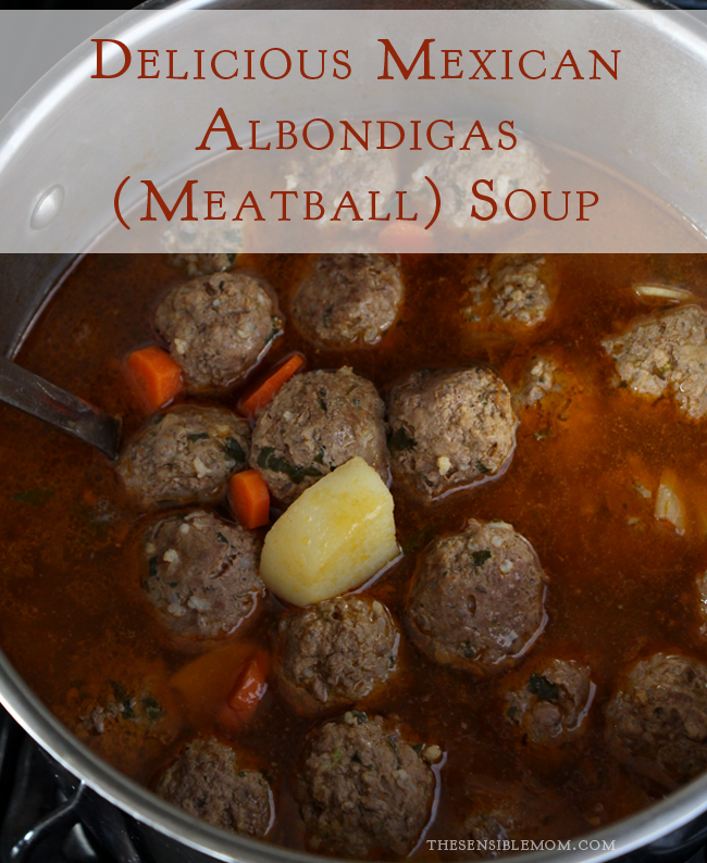 Delicious Mexican Albondigas (meatball) Soup! #albondigas #meatballsouprecipe #latinfood #shop #VivaLaMorena #tutorial