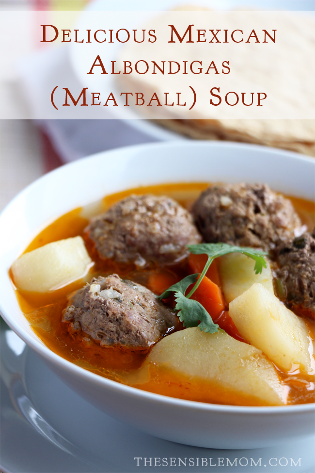 Latin Food Recipe: Delicious Mexican Albondigas (Meatball) Soup