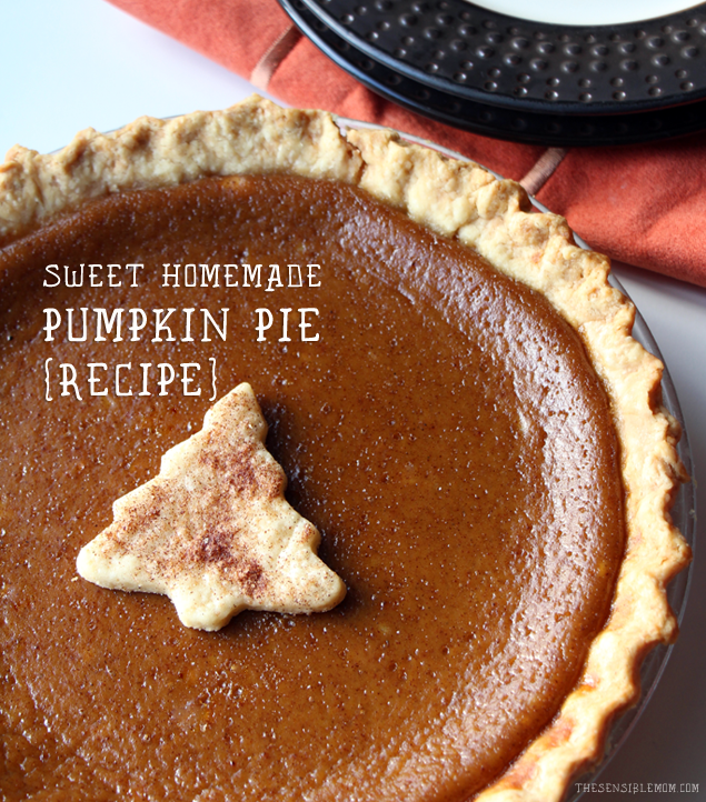 This is a recipe for a Delightful and Sweet Homemade Pumpkin Pie! It's fabulous! #pumpkin #pie #pumpkinpie #Thanksgiving #recipe