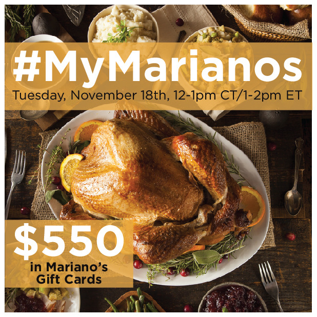 Join us for the #MyMarianos Twitter Party! We'll be discussing #Thanksgiving dishes! #ad