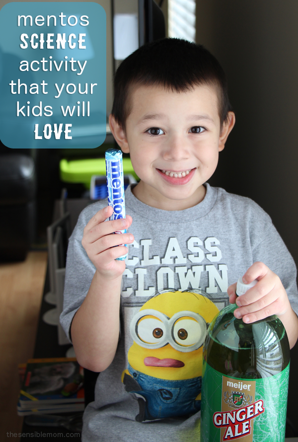 Mentos + Pop = a very fun and wild science experiment to try with your kids! #Homeschool #science #experiment
