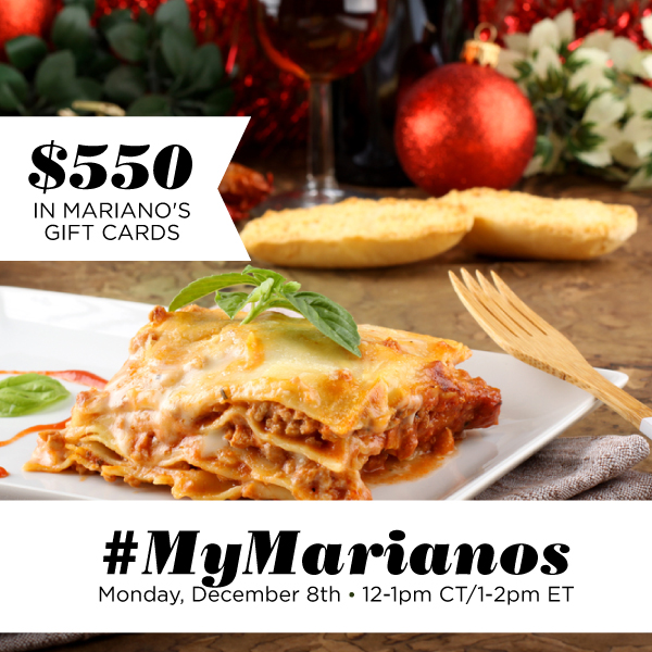 Join us for the #MyMarianos Twitter Party this month! #ad #holiday
