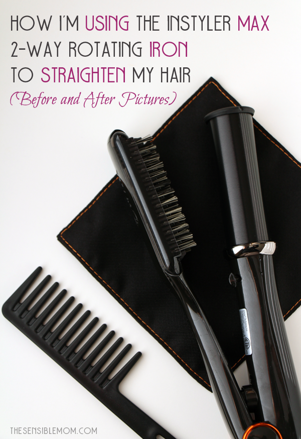 How I'm Using the InStyler Max 2-Way Rotating Iron to Straighten My Hair (Before and After Pictures)  #RSVPinStyler