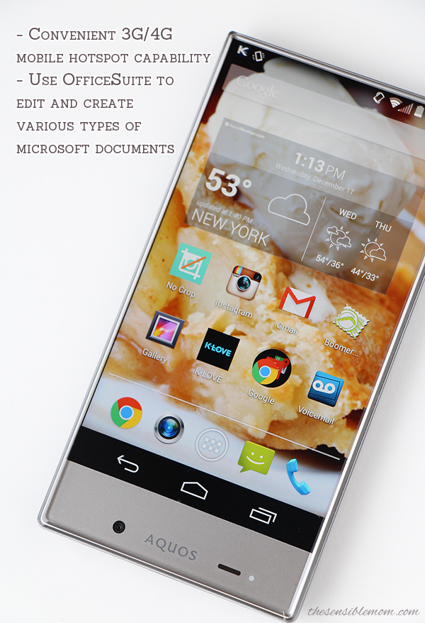 Review and Favorite Features of the Sharp AQUOS Crystal Smartphone #SprintMom #Smartphone