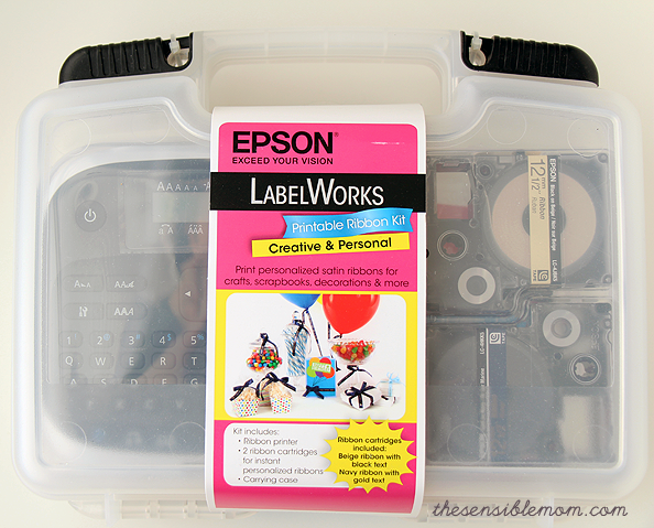 Epson LabelWorks Printable Ribbon Kit and a DIY recipe for Peppermint Sugar Scrub