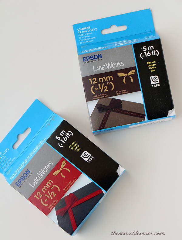 Epson LabelWorks Printable Ribbon Kit Review and recipe for Peppermint Sugar Scrub #diy #SugarScrub