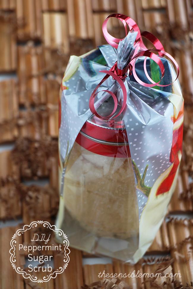 DIY Recipe and Gift Idea for Peppermint Sugar Body Scrub - It leaves your skin feeling soft and smooth! #Diy #SugarScrub