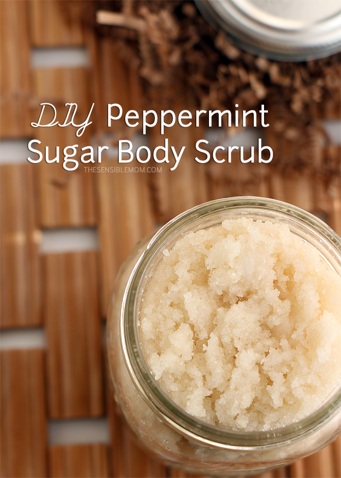 DIY Recipe and Gift Idea for Peppermint Sugar Body Scrub - It leaves your skin feeling soft and smooth! #Diy #SugarScrub