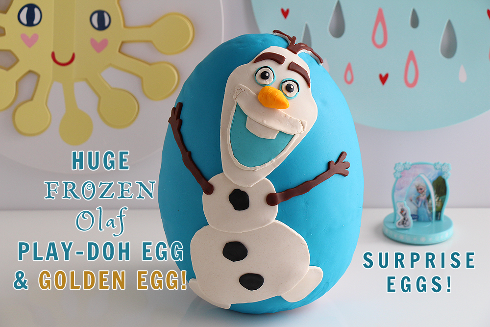 This is a fun, FROZEN Olaf Surprise Egg! It's made entirely out of Play-Doh!