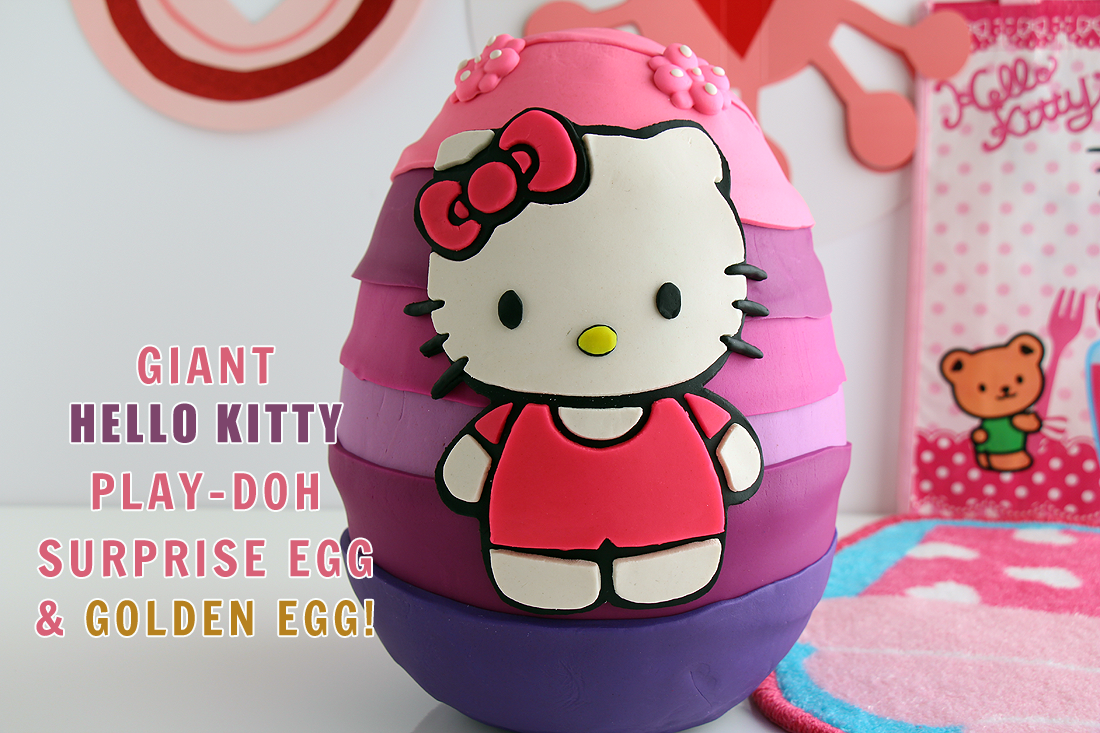 This is a super fun Hello Kitty Play-Doh Surprise Egg video! We also share a fun video showing toys dancing at Disney World! #playdoh