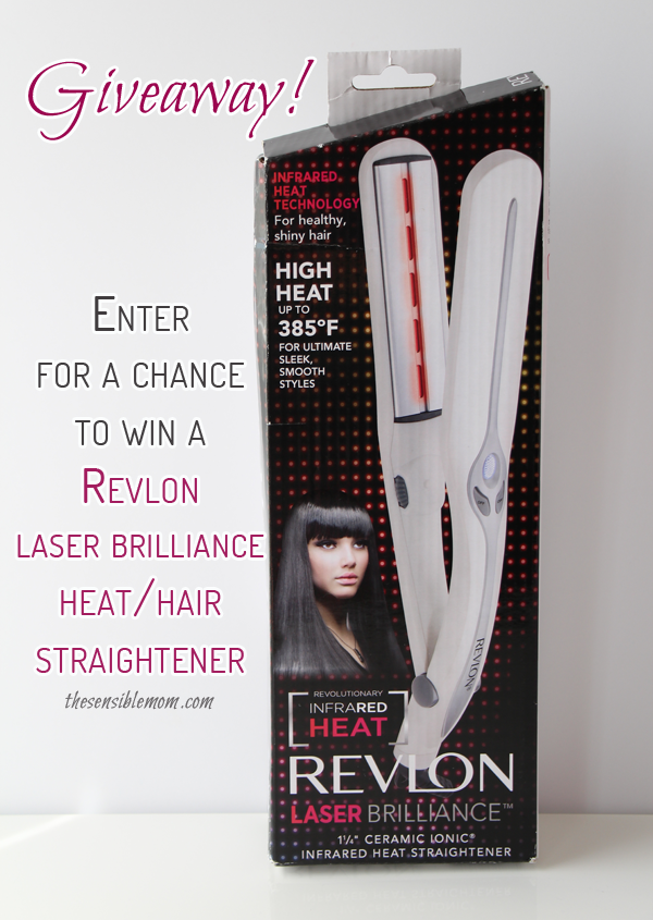 Hair Straightener Giveaway! Enter for a chance to win a Revlon Laser Brilliance Hair/Heat Straightener! Ends 4/6/15