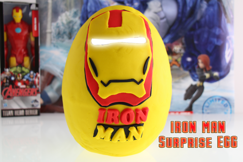 This is a Huge Iron Man Play Doh Surprise Egg - Avengers Age of Ultron - with Surprise Toys! #avengers #ironman
