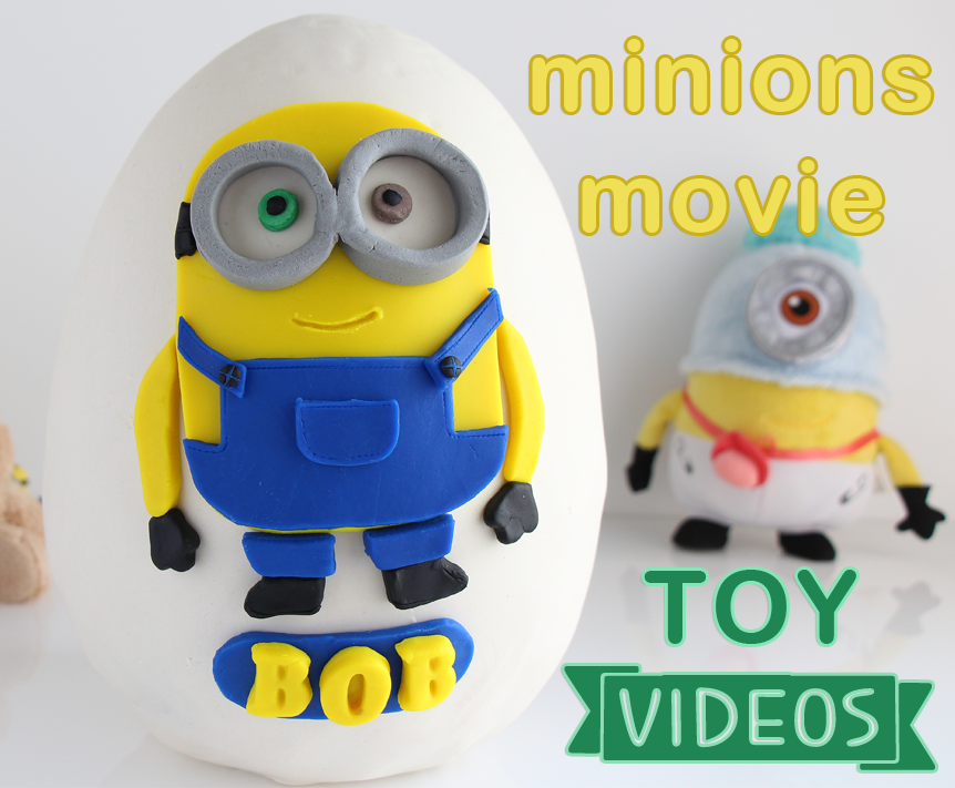 Your kids will enjoy these 5 Fun Minions Movie Toy Videos! They include a Minions BOB Play-Doh Surprise Egg and Minions McDonald's Happy Meal toys! #minions #minionsmovie #toysforkids