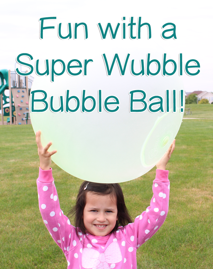 Fun with a Super Wubble Bubble Ball! This would make a great #Christmas #gift but it works well for an everyday fun ball toy as well! #giftideas #kids #fun #video #SuperWubble