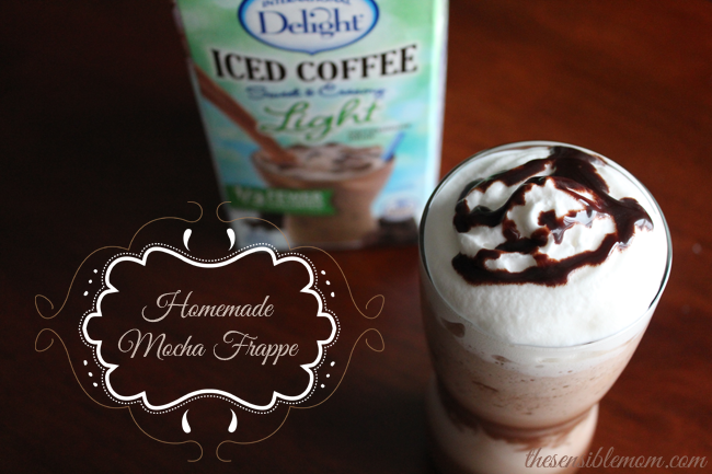 Homemade Mocha Frappe - The Sensible Mom