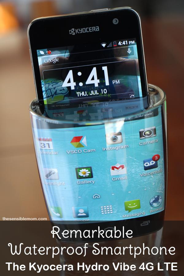 Remarkable Waterproof Smartphone: Kyocera Hydro Vibe 4G